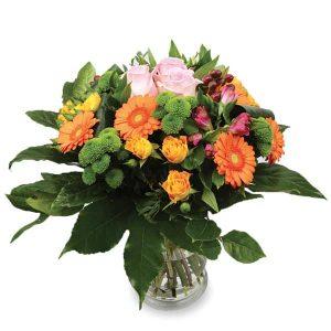 bouquet rond serré coloré