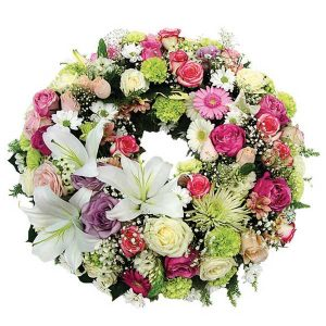 couronne de fleurs moyenne