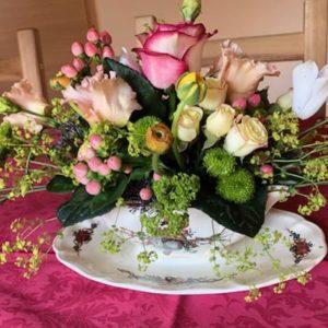 Atelier composition de fleurs piquées