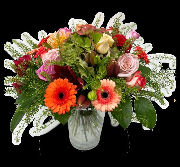 Bouquet haut en couleurs