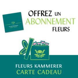 Abonnement de fleurs à Strasbourg